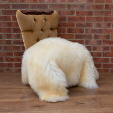 Sheepskin Rug LARGE XL 115-120cm / 75cm Creamy / White / Ecru Fur Rug.