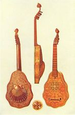 MUSICAL INSTRUMENTS. Queen Elizabeth's Lute 1945 old vintage print picture