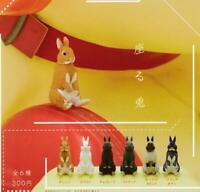 Kitan Club sit rabbit Gashapon 6set complete mini figure capsule toys