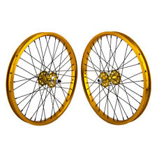 "20x1.75"" SE Racing Sealed Bearing Wheelset BMX GOLD"