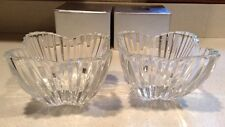 """TWO Mikasa Tulip Crystal Glass Bowls Lydia 6""""  - Serving Bowls Brand New"""