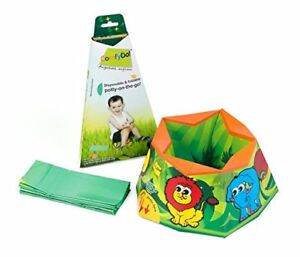 ComfyDo Disposable and Foldable Travel Potty Training Seat, Jungle Fun