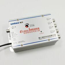 4 Way CATV VCR TV Antenna Signal Amplifier Booster Splitter 30dB 45-880MHz 220V