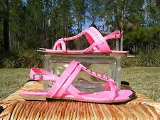 Dolce Vita Womens Girls 5 Hot Pink Silver Tip Slingback Tstrap Sandals NWT 18664