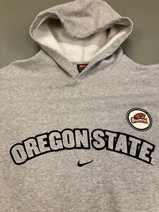 Vintage Nike Hoodie M L 90er Red Tag Team Oregon State Middle Swoosh College USA