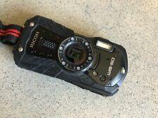 Black Ricoh WG-50 Digital Waterproof Rugged 16MP Camera CMOS 5X Zoom Shock