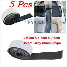 5X 240cm*5.8cm Car SUV Flooring Carpet EVA Teak Decking Border 6mm Thickness Pad
