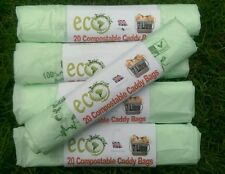 104 x 7 Litre Compostable Food Waste Caddy Liner Bags Biodegradable Eco planet