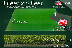 Home Practice Driving Range Synthetic Turf Residential Golf Mat 3 feet x 5 feet