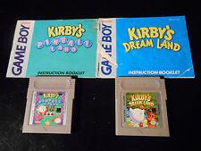 Kirby's Dream Land (Nintendo Game Boy) & Kirby's Pinball Land Games + Manuals
