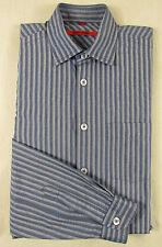 Gestreifte Normale Klassische Herrenhemden im Kentkragen-Stil mit Kombimanschette-Ärmelart