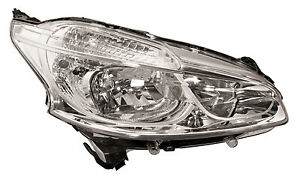 Fits Peugeot 208 2012-Headlamp With Drl Rh Right Os Offside Drivers