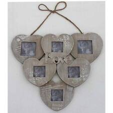 JOURNAL 6 HEART PHOTO FRAME WALL HANGING WOODEN 394089