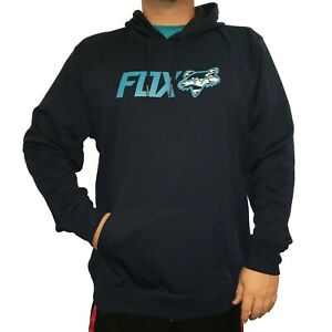 NEW! FOX RACING MENS MX OFF-ROAD HOODIE PULLOVER BLUE MENS LARGE X-LARGE XXL/2XL