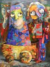 """Original painting """"New Neighbors"""" Oil on canvas 30x40 in by Ana Kim"""