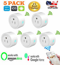 5x Pack Smart Socket USA Plug Wi-Fi Switch Work With Echo Alexa Remote Phone APP