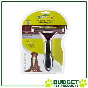 FURminator Deshedding Brush Comb Tool Metallic Bronze For Long Hair Large Dogs