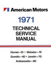 1971 AMC Service Shop Repair Manual Book Engine Drivetrain Electrical Guide OEM