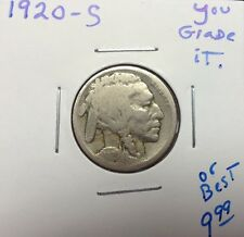 1920-S 5C Buffalo Nickel