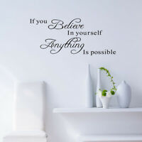 If You Believe Word Wall Stickers Vinyl Decal Mural Home Quote Art Decor Novelty