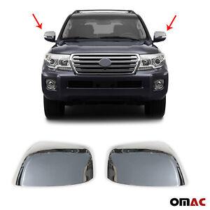 Fits Toyota Land Cruiser 2008-2021 Chrome Side Mirror Cover Cap 2 Pcs
