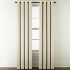 """Studio McKenna Ottoman Very Natural Beige Room Darkening Grommet Panel, 50""""x95"""""""
