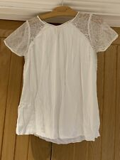 The White Company White Lace Detail Summer Top - Size 12
