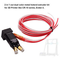 2 in 1 out All-Metal MK8 Hotend Extruder Kit 24V fit for Ender-3 TEVO ALFWISE B4