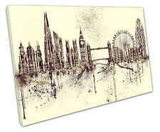 Pintura LONDRES LONA pared arte Foto Grande 75 X 50 Cm