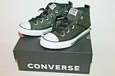 Converse Junior 662335F Boys Utility Green Street Mid Sneakers Shoes Boy Size 2