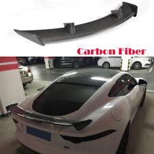 Carbon Fiber Rear Spoiler Wing Refit Fit For Jaguar F-TYPE Coupe 2-Door 14-18