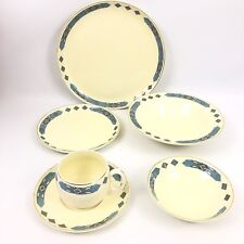 W.S. George Cherokee Blue Place Setting Dinnerware SW Inspired Mid Century