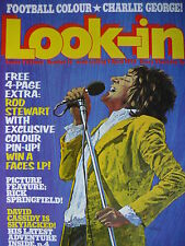 LOOK-IN MAGAZINE 7TH APRIL 1973 - ROD STEWART/FACES - RICK SPRINGFIELD