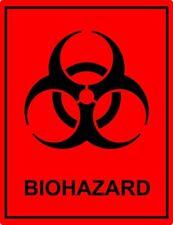 Bio Hazard Decal Sticker BioHazard Waste Material Made to Last 2.5