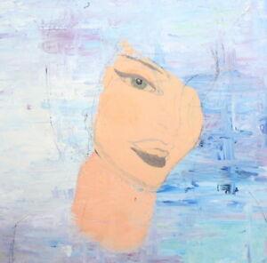Modernist woman portrait oil painting