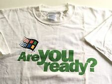 Vintage Microsoft Windows 2000 Are You Ready PC Geek T-shirt Mens XL X-Large