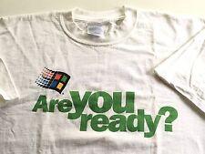Vintage Microsoft Windows 2000 Are You Ready PC Geek T-shirt Mens XL X-Large