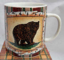 Department 56 Mug S Campground Grizzly Bear Birch Tent Plaid Cabin Lodge Coffee