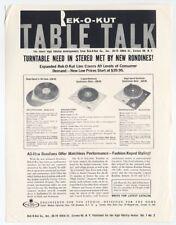 Rek-O-Kut Sales Brochure 'Table Talk' Rondine Models K-33 N-33 H B-12GH