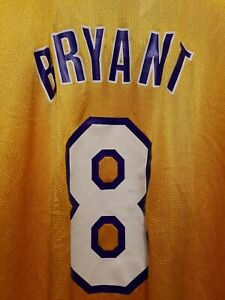 Kobe Bryant LOS ANGELES LAKERS NBA AUTHENTIC REEBOK ROOKIE JERSEY ADULT 2XL RARE