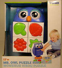 TOMY PRODUCED MR OWL PUZZLE POP PLASTIC PLAY TOY FOR CHILDREN AGES 12M+