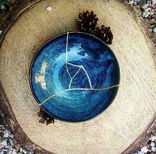 Kintsugi Plate - Empty blue