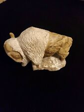 Marble Buffalo (Bison) Sculpture Hand Made One Piece