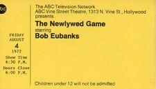 BOB EUBANKS THE NEWLYWED GAME RARE ORIGINAL 1972 ABC TV STUDIO TICKET