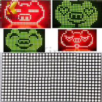 16x32 Red Green Dual-Color Dot Matrix DIY Kit Perfect Control Display Module