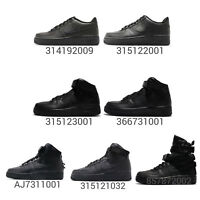 Nike Air Force 1 07 / Mid / Hi All Triple Black Out Men Women Kids Junior Pick 1