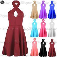 Women's Polyester Halter Neck Dresses