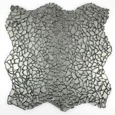 carrelage verre mosaique sol et mur OSMOSE CHROME