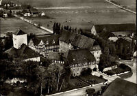 HELMSTEDT Burg Warberg Bundeslehranstalt Fliegerfoto-AK Luftbild ~1950/60