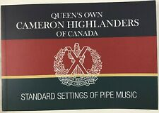 Queen's Own Cameron Highlanders Of Canada Standard Settings of Piping Music Book
